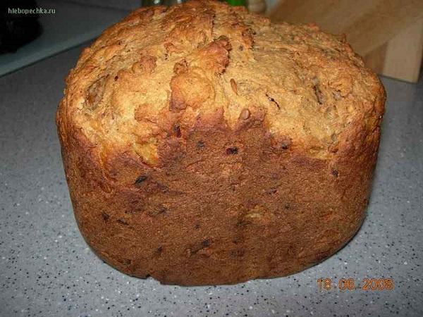 Хлеб деревенский в хлебопечке Moulinex