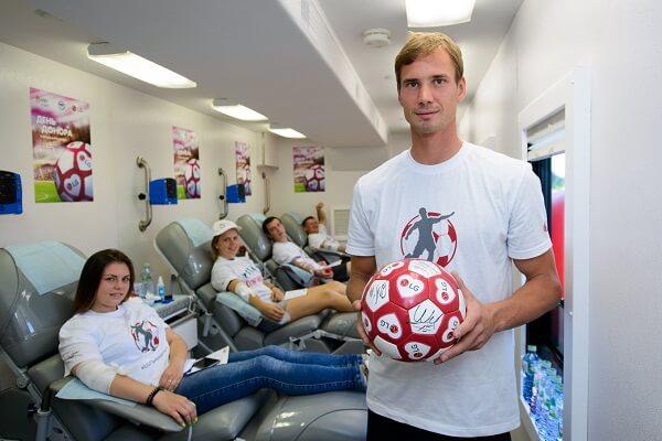 Футбольная донорская акция