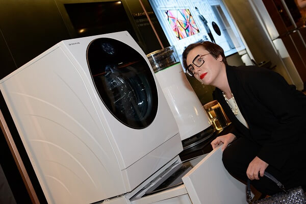 стиральная машина с двумя барабанами